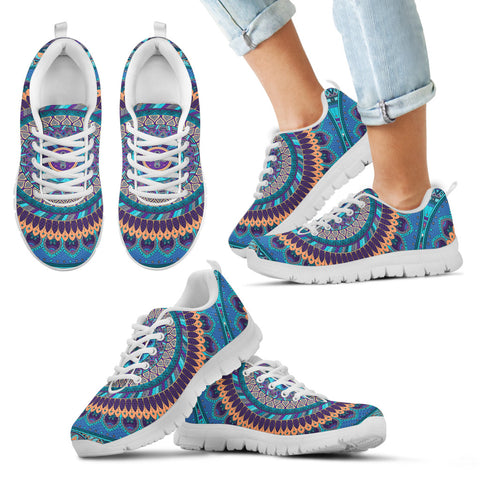 Oriental Ornamental Mandala Kid's Sneakers