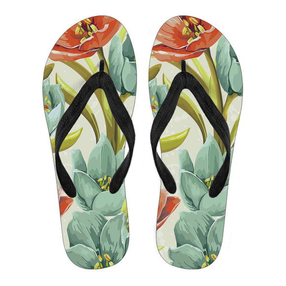 Lovely Flowers Men's Flip Flops