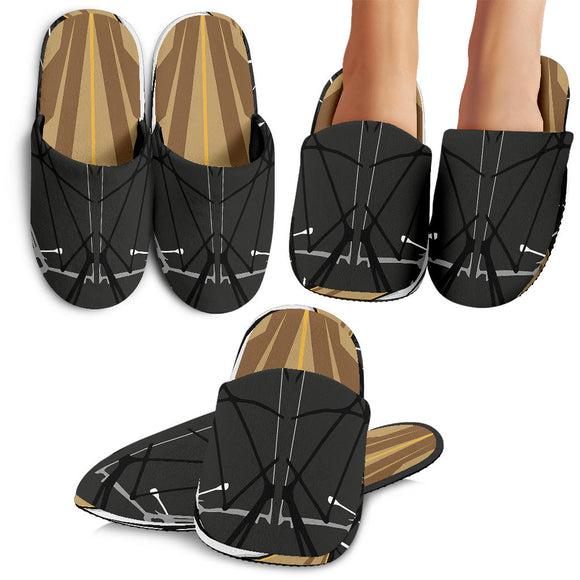 Racing Cosmic Style Brown & Black Vibes Slippers