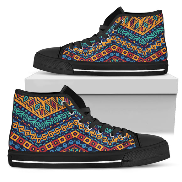 African Modern Style Men's High Top Shoes