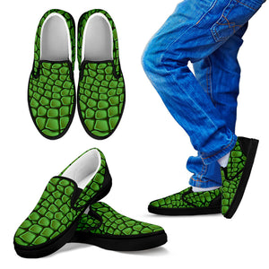 In Love With Crocodile Kid's Slip Ons