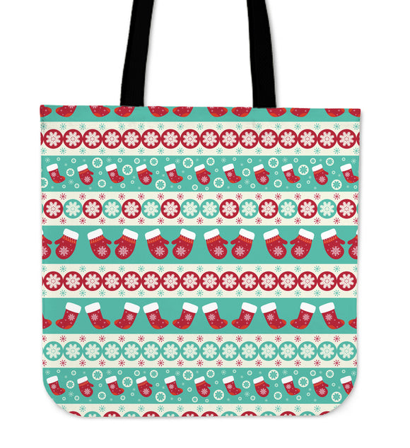 Christmas Light Blue Good Vibes Only Cloth Tote Bag