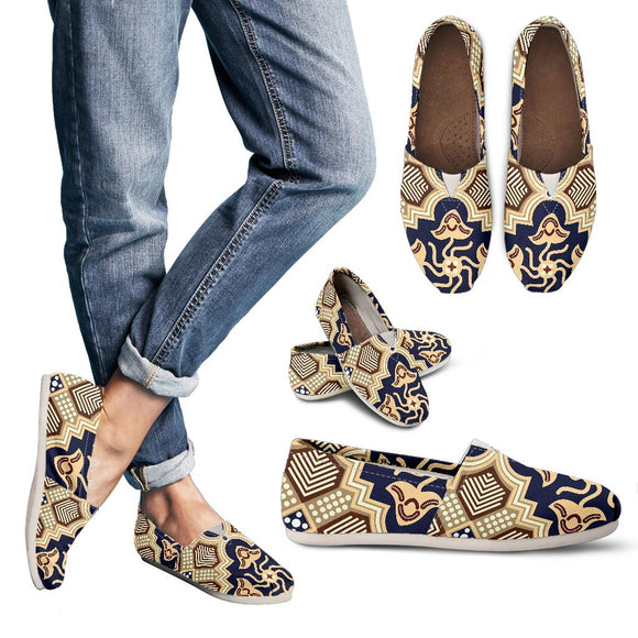 Ornamental Blue Love Women's Casual Shoes