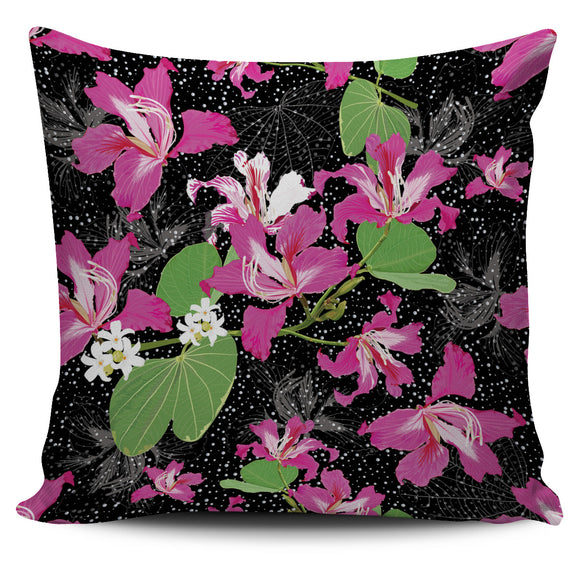 Luxury Pink Flowers Pillow Cover