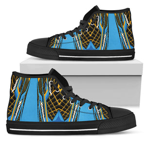 Racing Cosmic Style Blue & Orange Vibes High Top Shoes