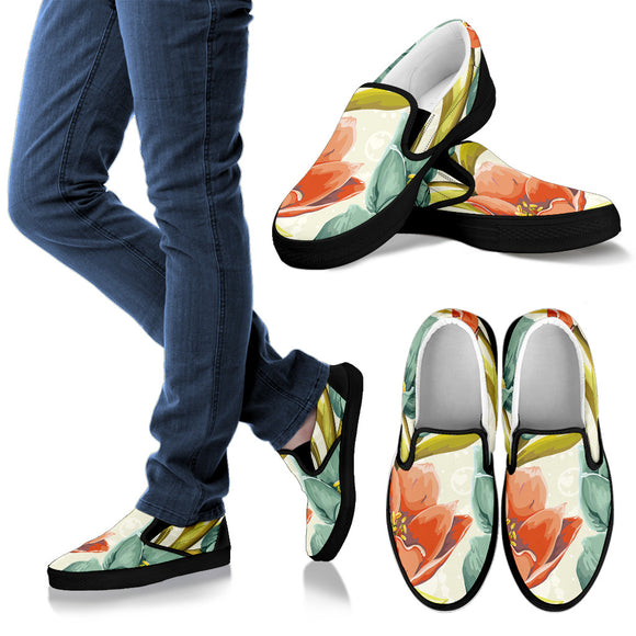 Lovely Flowers Men's Slip Ons