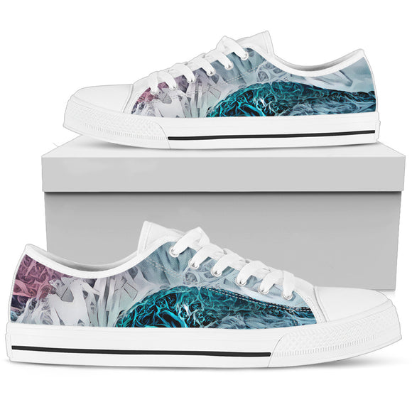 Abstract Blue Deep Ocean Low Top Shoes