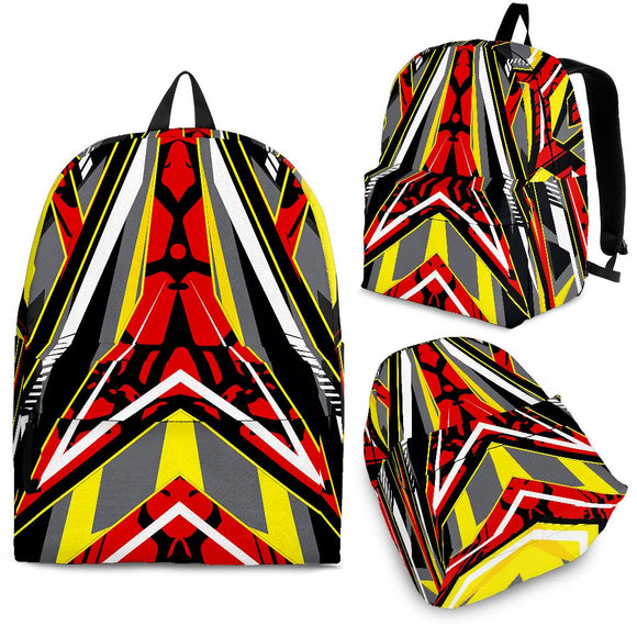 Racing Style Wild Red & Yellow Vibes Backpack