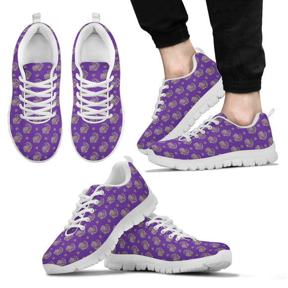 Lucky Purple Elephant Men's Sneakers