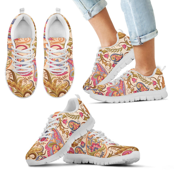 Royal Paisley Kid's Sneakers