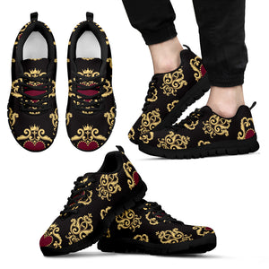 Luxury Royal Hearts Men's Sneakers