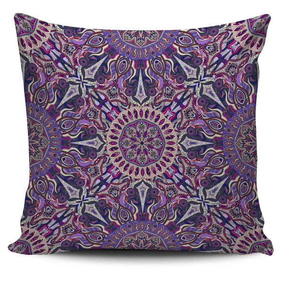 Violet Mandala Pillow Cover