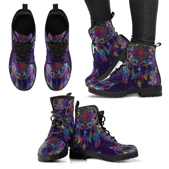 Purple Lovely Dreamcatcher Handcrafted Boots