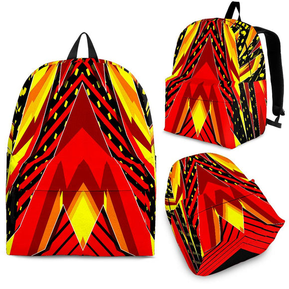 Racing Style Wild Red & Yellow Colors Vibe Backpack