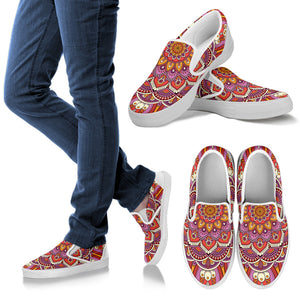 Lovely Boho Mandala Vol. 1 Women's Slip Ons