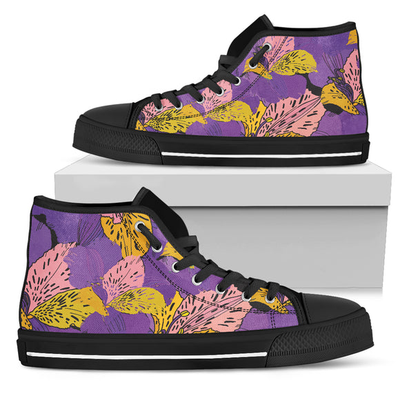 Flowery Violet Dream Women's High Top Shoe