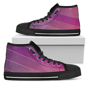 Glamour Purple Women's High Top Shoes