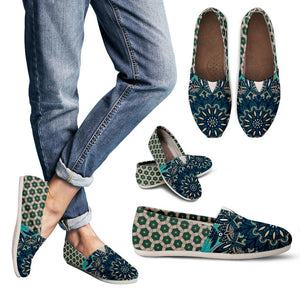 Green Mandala Women's Casual Shoes