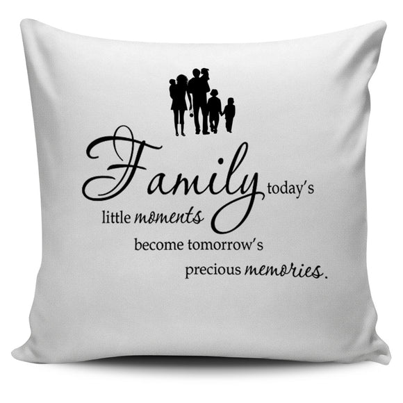Family Quote Treasures Pillow Cover