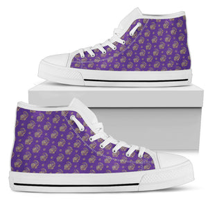 Lucky Purple Elephant Women's High Top Shoes
