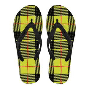 Yellow Tartan Passion Men's Flip Flops