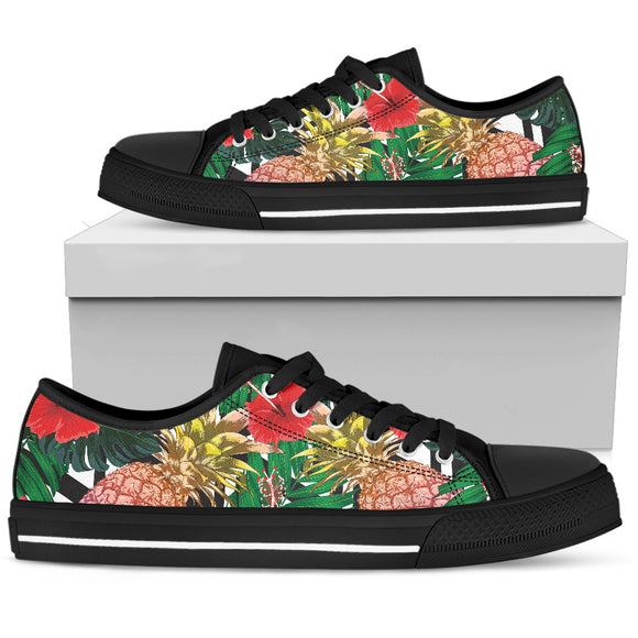 Summer Pineapple Love Men's Low Top Shoes
