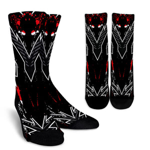 Racing Style Black & Red Splash Vibes Crew Socks