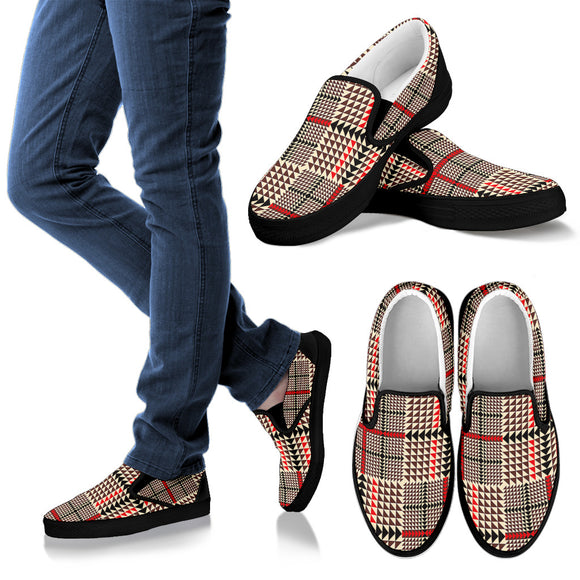 Awesome Tartan Plaid Women's Slip Ons