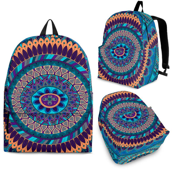 Oriental Ornamental Mandala Backpack