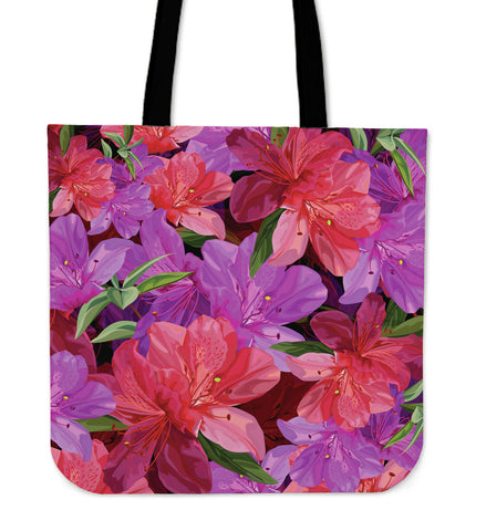 Beautiful Pink Flower Azalea Cloth Tote Bag