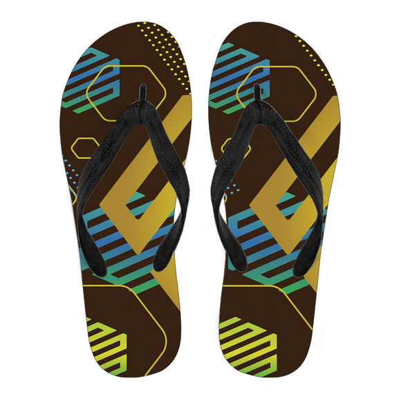 Experimental Gold Men's Flip Flops