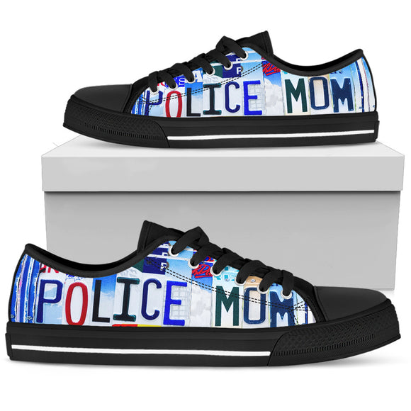 Police Mom Women's Low Top Shoes