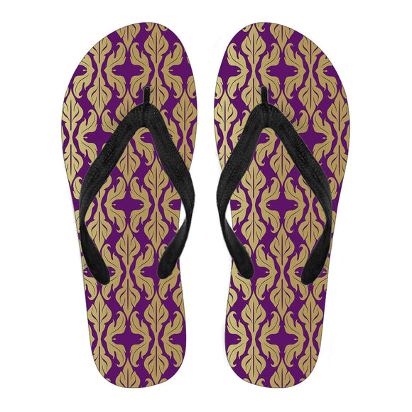 Purple Baroque Men's Flip Flops