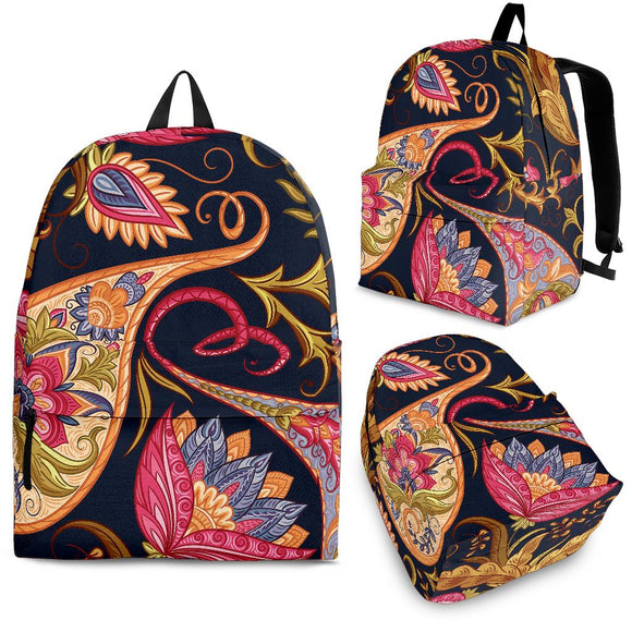 Royal Blue Paisley Backpack