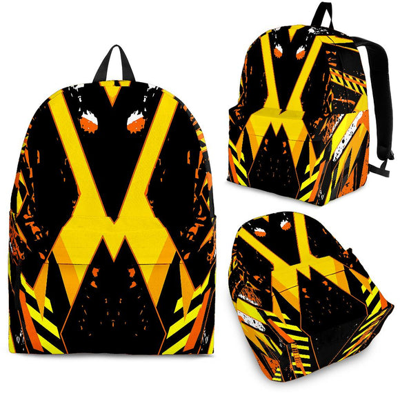 Racing Style Wild Yellow & Black Vibes Backpack