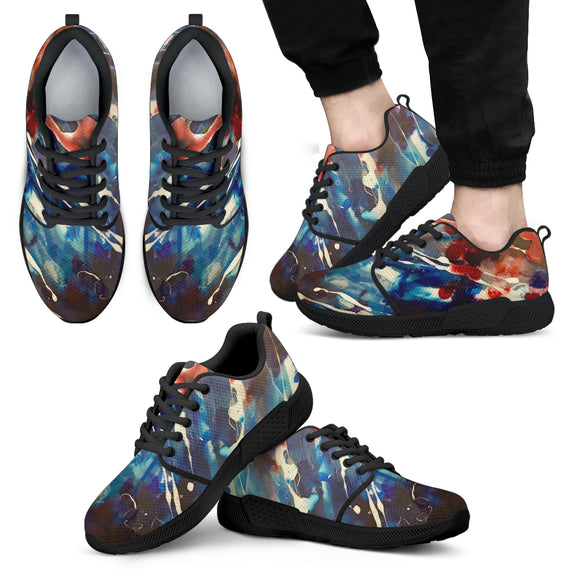 Dark Blue Galaxy Men's Athletic Sneakers