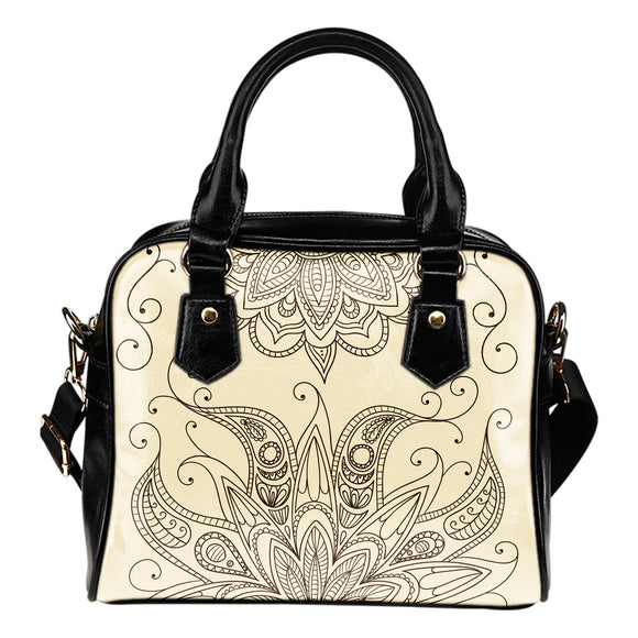 Beige Henna Shoulder Handbag