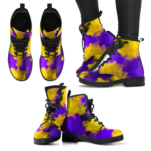 Colored Yellow Smoke Handcrafted Boots