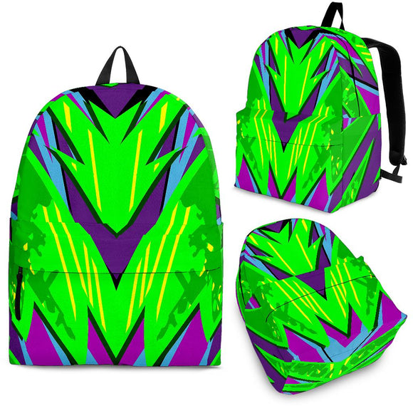 Racing Neon Style Green & Violet Vibe Backpack