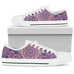 Ornamental Magical Purple Women's Low Top Shoes