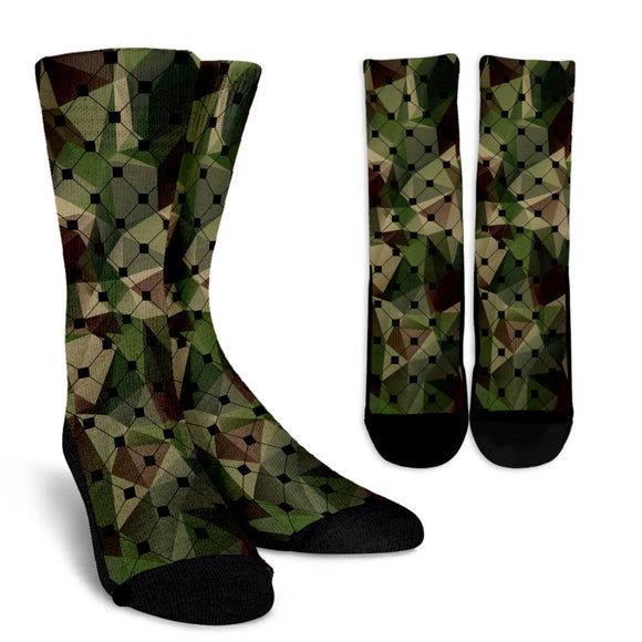 Army Net Crew Socks