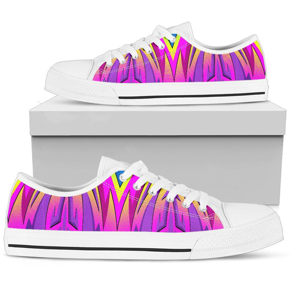 Racing Style Pink Colorful Vibes Low Top Shoe