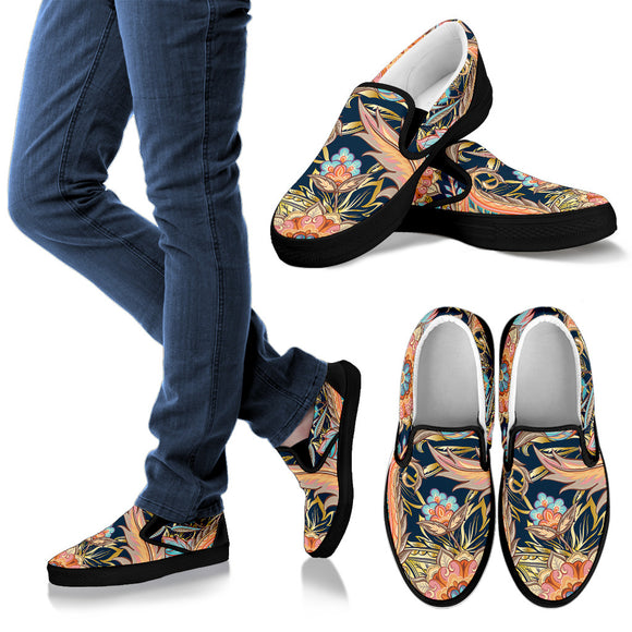 Romantic Paisley Women's Slip Ons