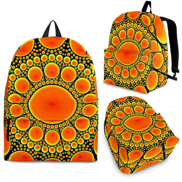 Neon Orange Sun Backpack