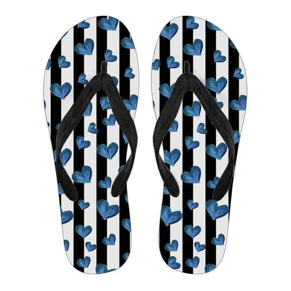 Blue Hearts Women's Flip Flops