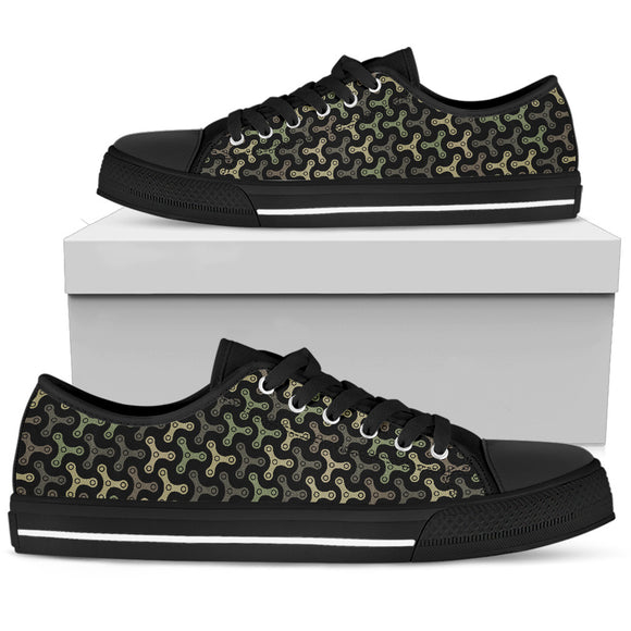 Chain Camouflage Men's Low Top Shoes
