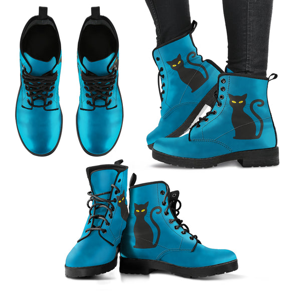 Deep Blue Cat Handcrafted Boots
