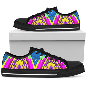 Racing Style Blue & Colorful Pink Vibes Low Top Shoe