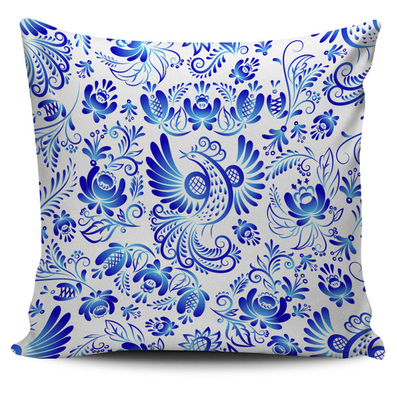 White & Blue Power of Nature Pillow Cover