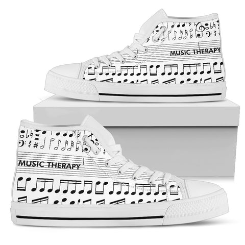 Music Therapy Women's High Top Shoes